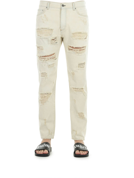 JEANS RIPPED S/S 17, 8000WHITE, medium