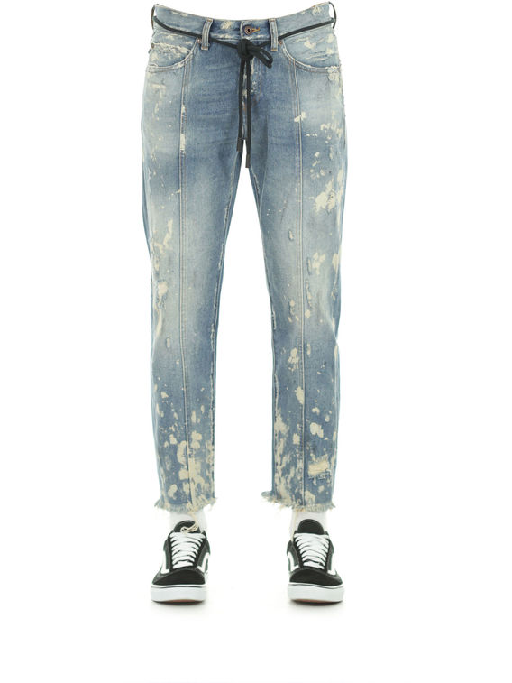 JEANS DIAG CAMOUFLAGE, WHITE, medium