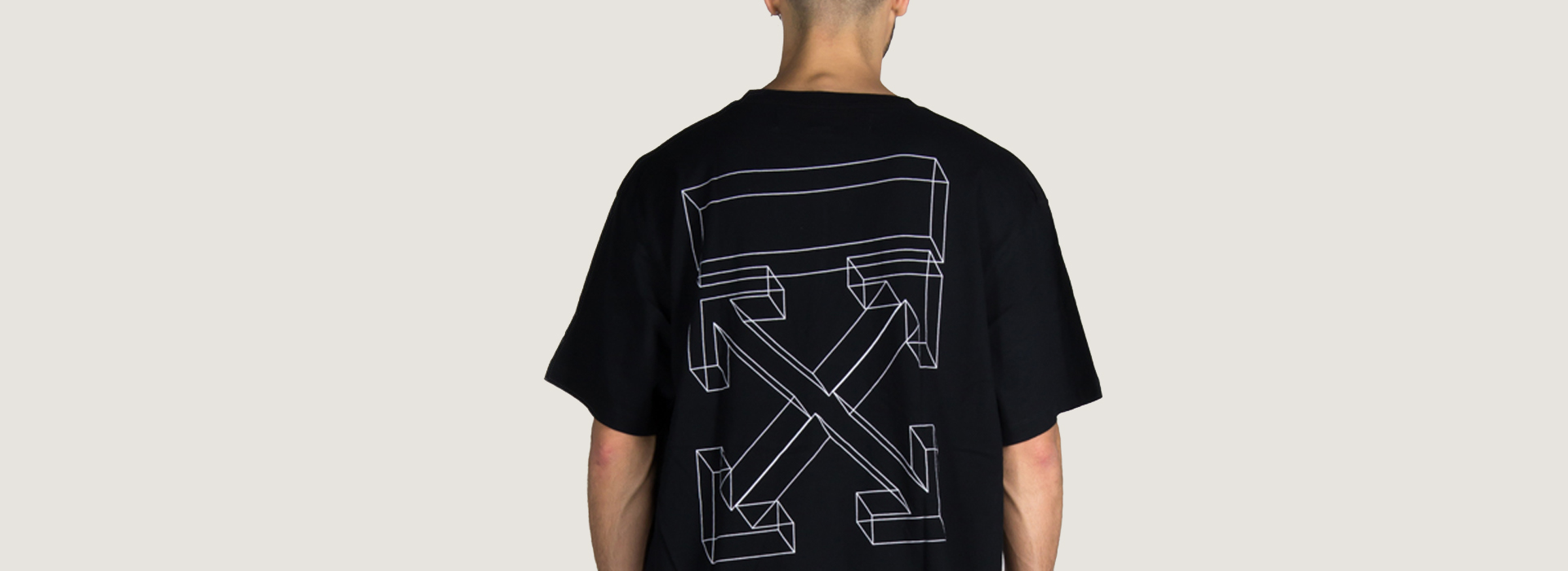 OFF-WHITE T-SHIRT 3D LINE OVER TEE