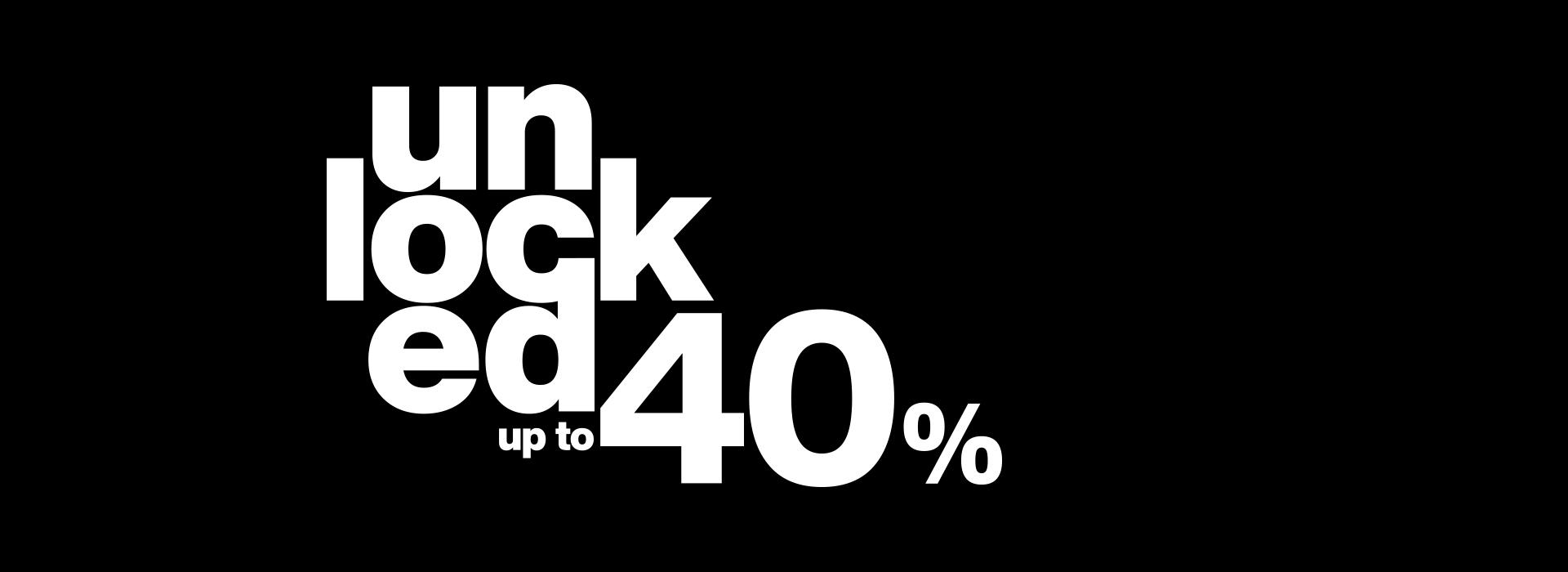 sconti fino al 40% su tutta la collezione p/e 2020 uomo e donna