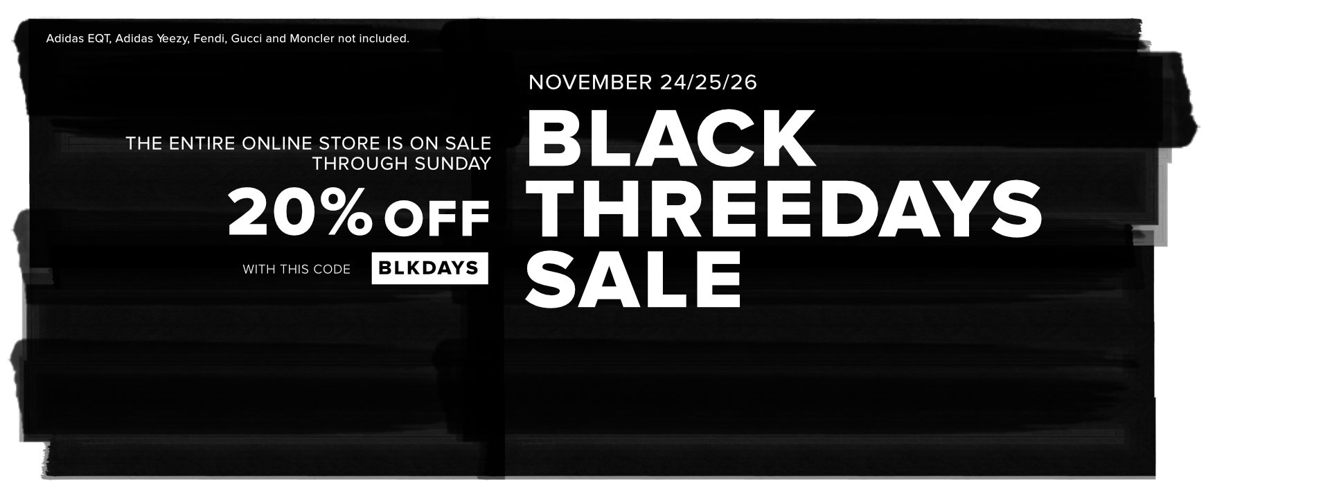 Black Days online - 20% off