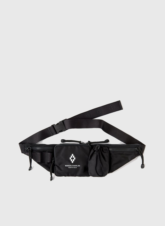 MARSUPIO CROSS FANNY PACK, BLACK/WHITE, medium