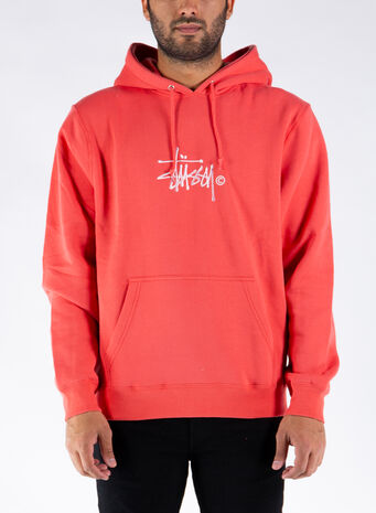 FELPA COPYRIGHT STOCK HOODIE, PALERED, small