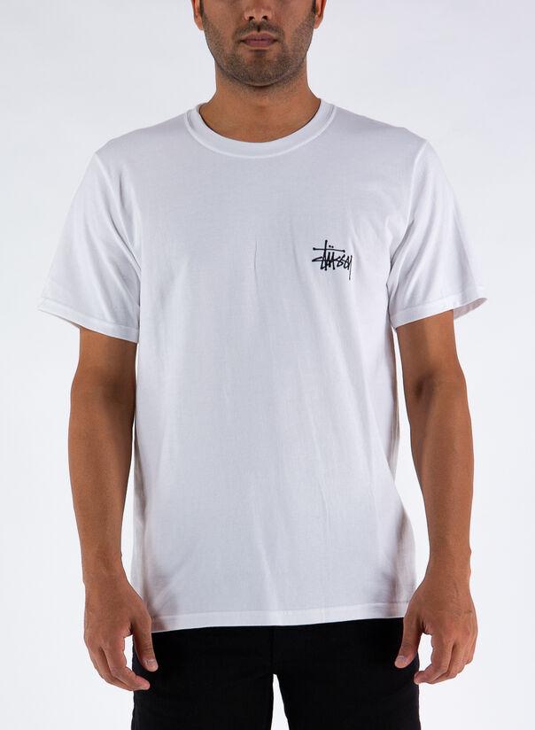 T-SHIRT BASIC STUSSY, WHITE, large