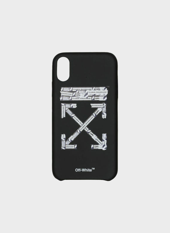 COVER AIRPORT TAPE IPHONE XS, BLACK/MULTI, medium