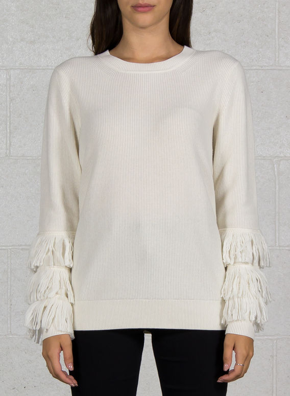 MAGLIONE CON FRANGE, 110BONE, medium