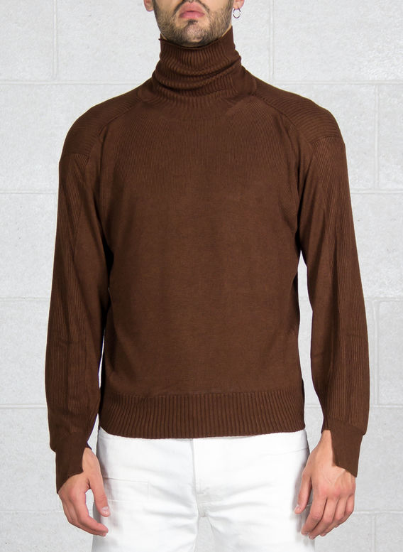 MAGLIONE DOLCEVITA, BROWN, medium