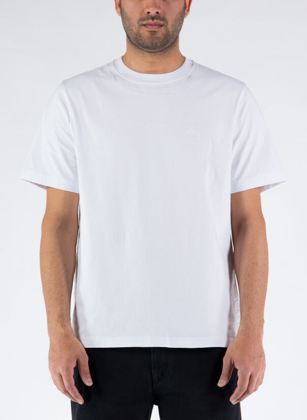 T-SHIRT STOCK LOGO CREW, WHITE, large