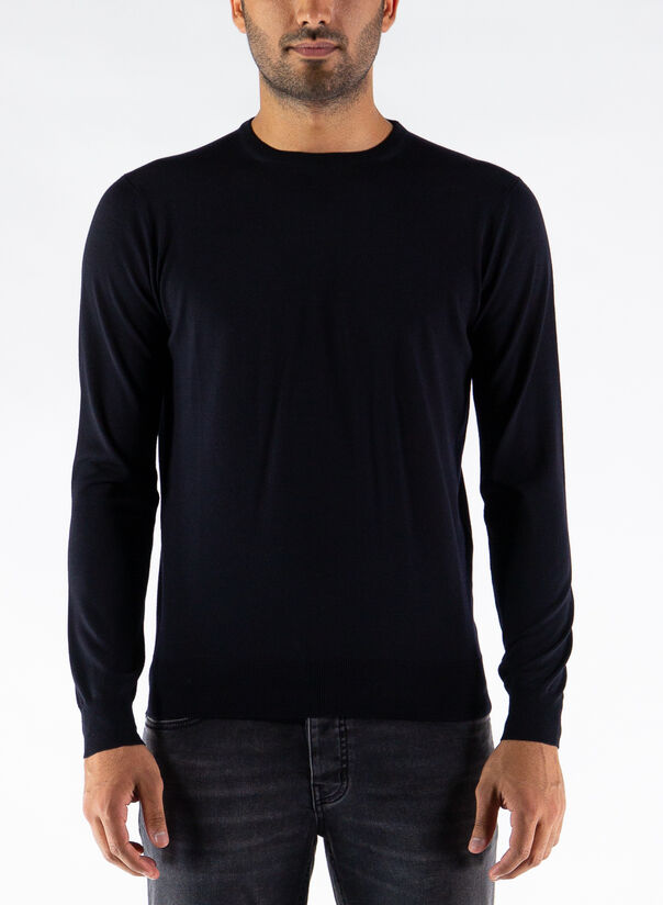 MAGLIONE GIROCOLLO, 008NAVY, large