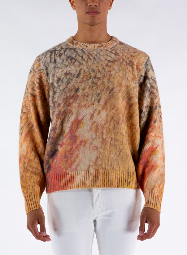 MAGLIONE WINGS PRINT SWEATER, MULTI, large