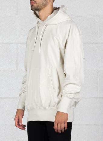 FELPA STACKED LOGO HOODIE, CHAMPAGNE, small