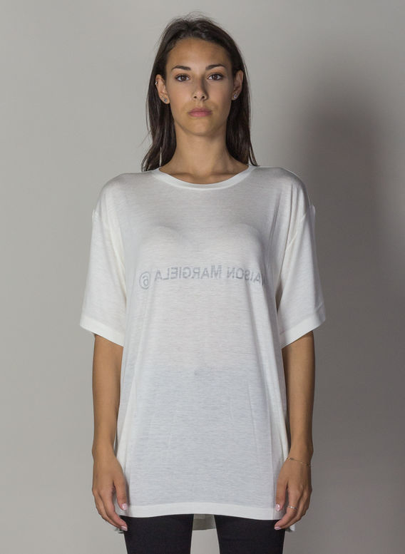 T-SHIRT CON LOGO INSIDE-OUT, 102OFFWHITE, medium