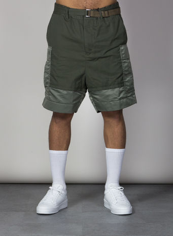 BERMUDA FABRIC COMBO SHORT, KHAKI501, small