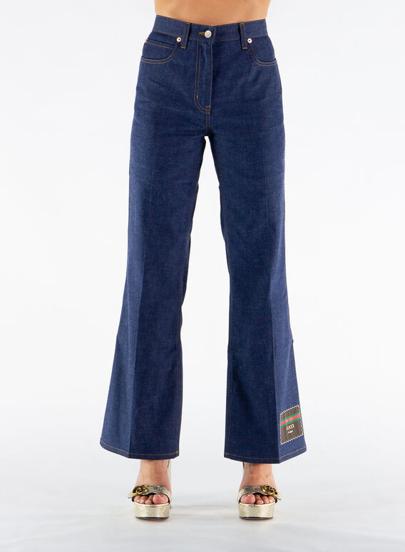 PANTALONE IN DENIM CON GUCCI BOUTIQUE, 4759, medium