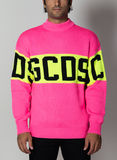 MAGLIONE COLORFUL LOGO SWEATER, 06PINK, thumb