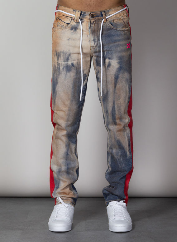 JEANS SIDE PANEL SLIM DENIM, EXTREMEBLEACH, medium