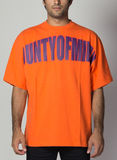 T-SHIRT COUNTY OVER, ORANGE/DARKPURPLE, thumb