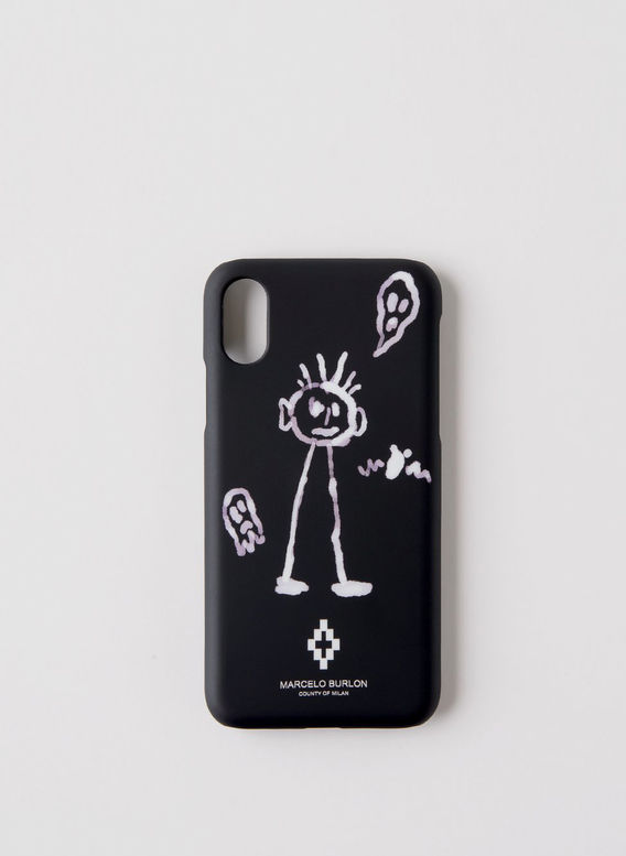 COVER IPHONE KID SKETCH, BLACK/WHITE, medium