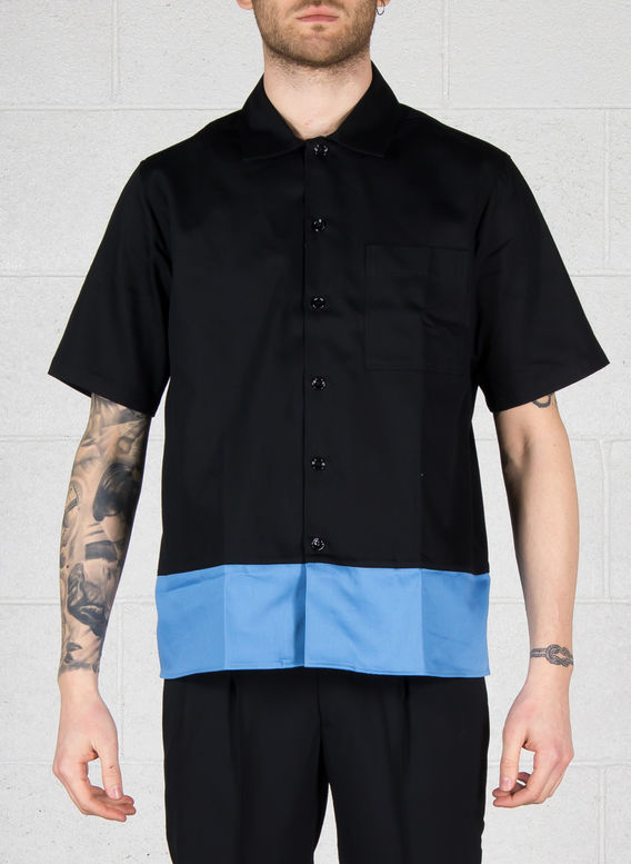 CAMICIA, 005BLACK/BLUE, medium