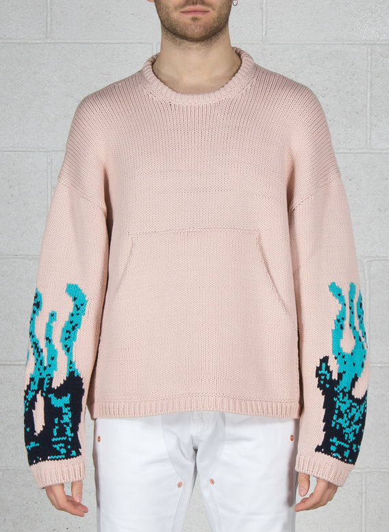 MAGLIONE LUKE FLAME, PINK, medium