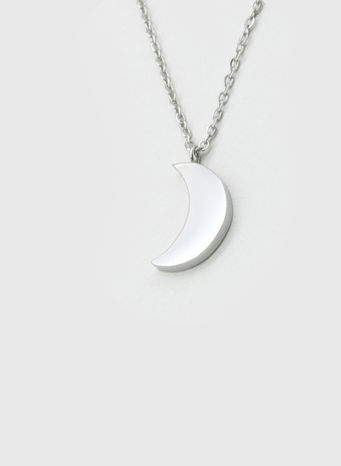 COLLANA KUKO NECKLACE MOON, SILVER, small
