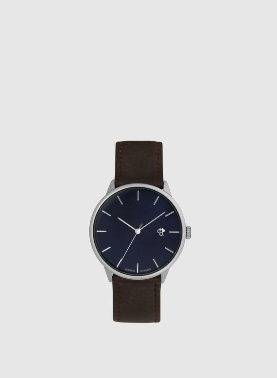 OROLOGIO CHPO WATCH KORSHID, NAVYMETAL/BROWN, medium