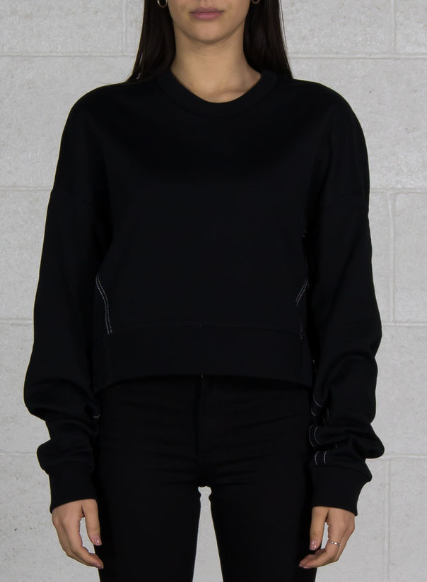 FELPA YOHJI LOVE CREW SWEATER, BLACK, large