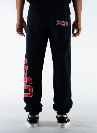 PANTALONE COLLEGE SWEATPANTS, BLACK, small