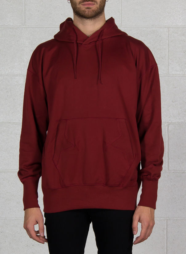 FELPA STACKED LOGO HOODIE, RUSTRED, large