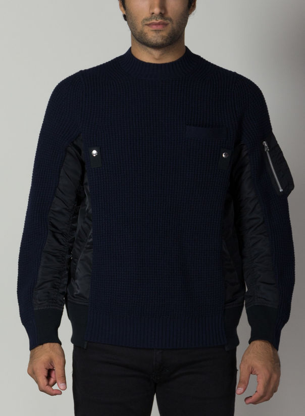 MAGLIONE MA-1X WOOL KNIT PUL, 201NAVY, large