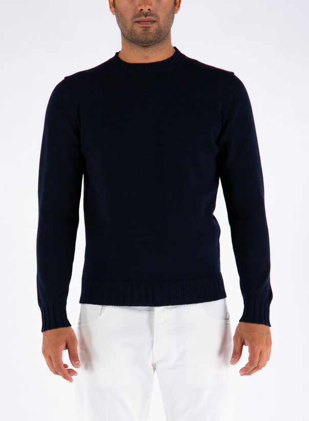 MAGLIONE GIROCOLLO, 890NAVY, large