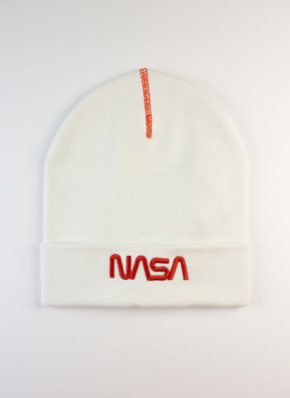 CAPPELLO NASA BEANIE, WHITE/RED, medium