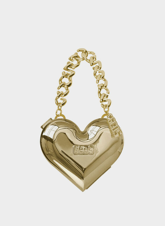 BORSA CUORE CROMATICA, GOLD16, medium