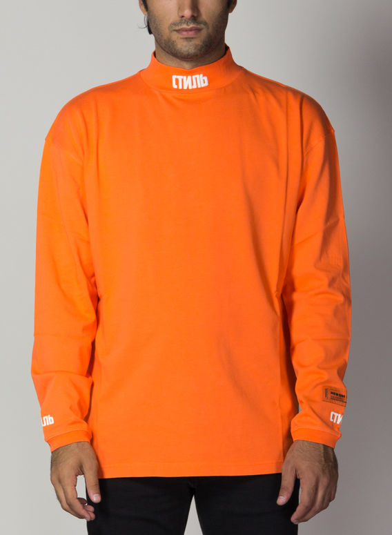 MAGLIA TURTLENECK CTNMB, ORANGE/WHITE, medium