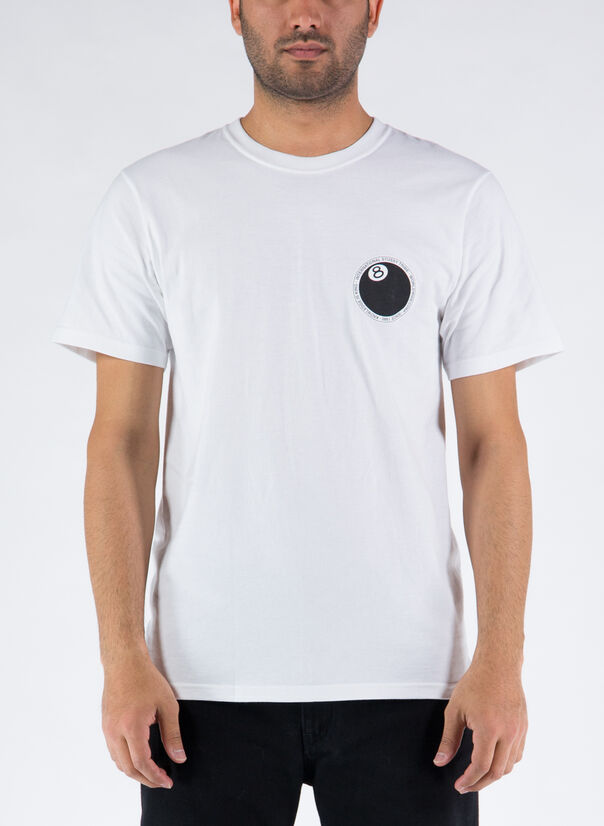 T-SHIRT 8 BALL DOT, WHITE, large