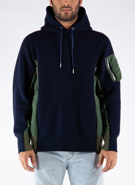 FELPA SPONGE SWEAT X MA-1 HO, NAVYXKHAKI212, medium