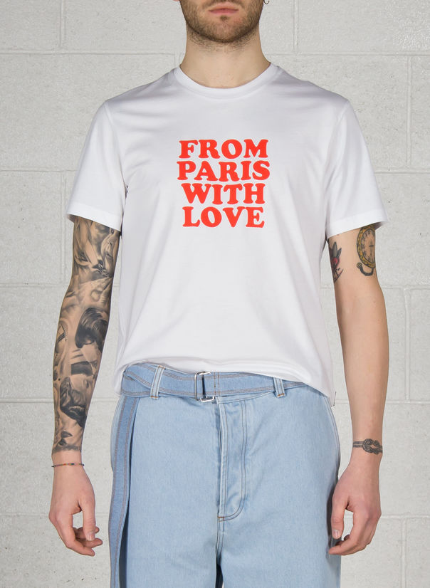 T-SHIRT FROM PARIS WITH LOVE, 100WHITE, large