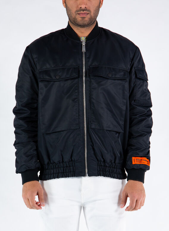 GIUBBOTTO NYLON BOMBER, 1000BLACK, medium
