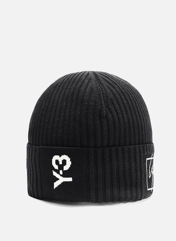 CAPPELLO BEANIE 3-STRIPES, BLACK, large