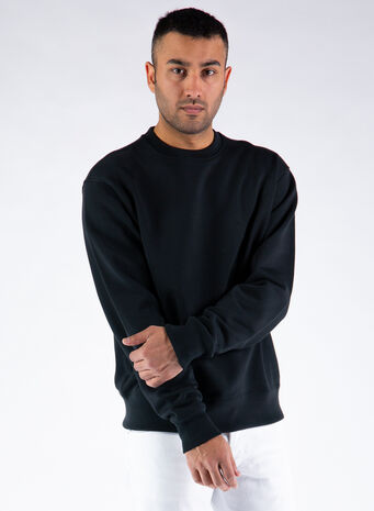 FELPA HOODIE PHARRELL WILLIAMS BASICS, BLACK, small