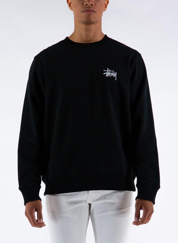 FELPA BASIC CREW, BLACK, large