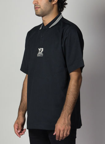 POLO OVERSIZED COLLEGIATE, BLACK, small