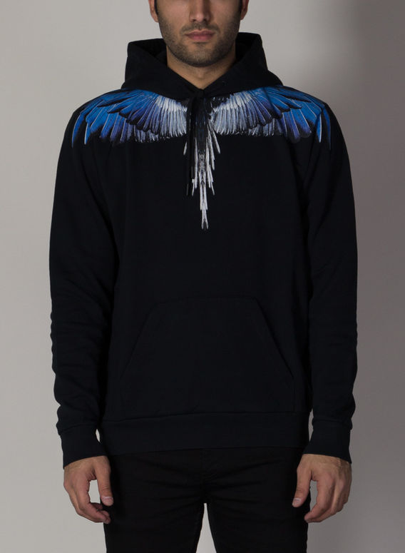 FELPA FALLS WINGS REGULAR HOODIE, BLACK/BLUE, medium