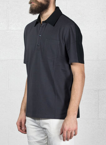 POLO B-COLOR NASTRO, F0UY7ANTRACITE/BLACK, small