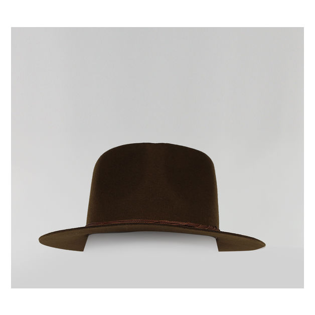 CAPPELLO BALTIMORA FEDORA, COFFE, medium