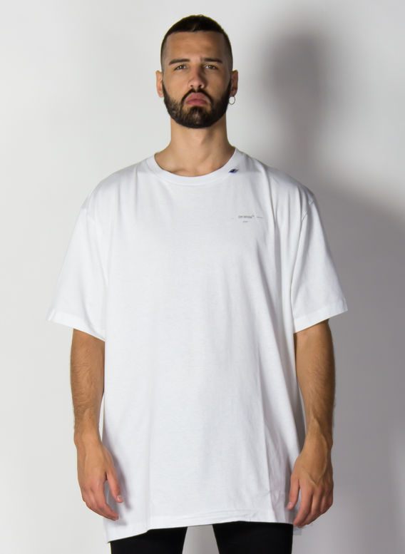 T-SHIRT UNFINISHED S/S OVER, WHITE/SILVER, medium