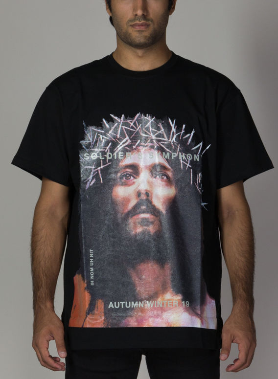 T-SHIRT JESUS, 009BLACK, medium