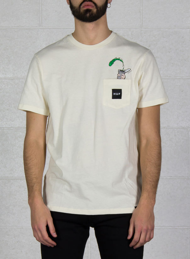 T-SHIRT POPEYE POCKET, CREAM, large