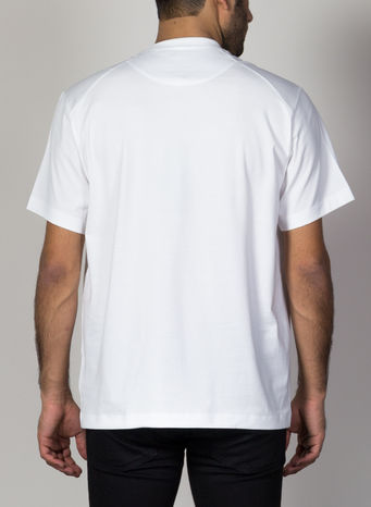 T-SHIRT FRONT LOGO SS TEE, WHITE, small