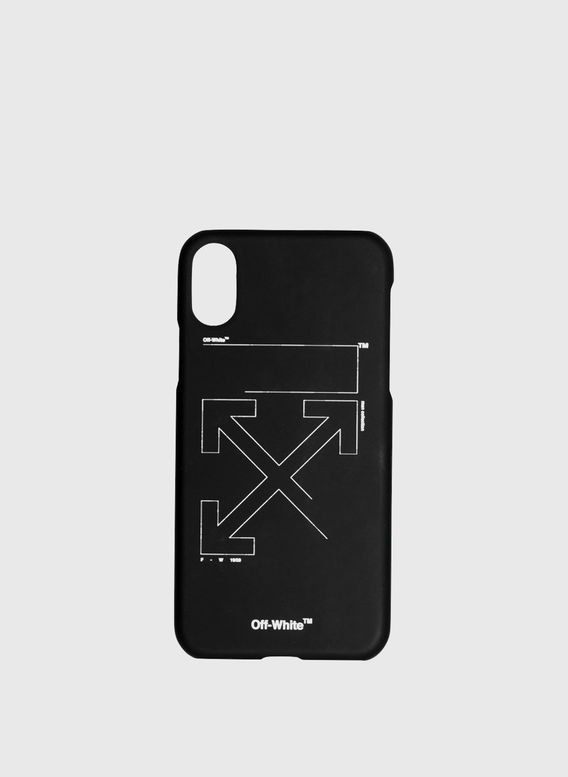 COVER UNFINISHED IPHONE XS, BLACK/WHITE, medium